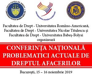BANNER ELECTRONIC CONFERINTA NATIONALA DE DREPTUL AFACERILOR 2019